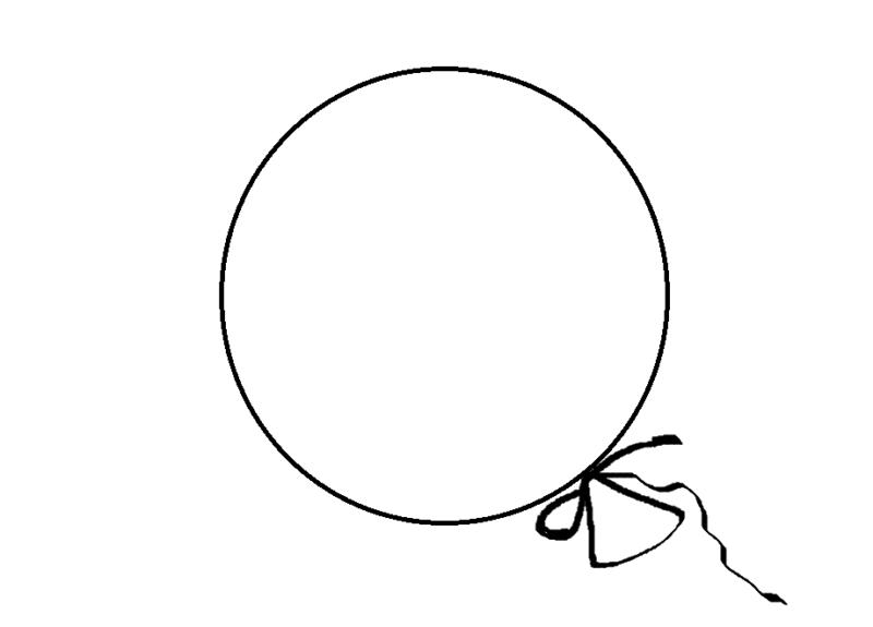 воздушный шар раскраска