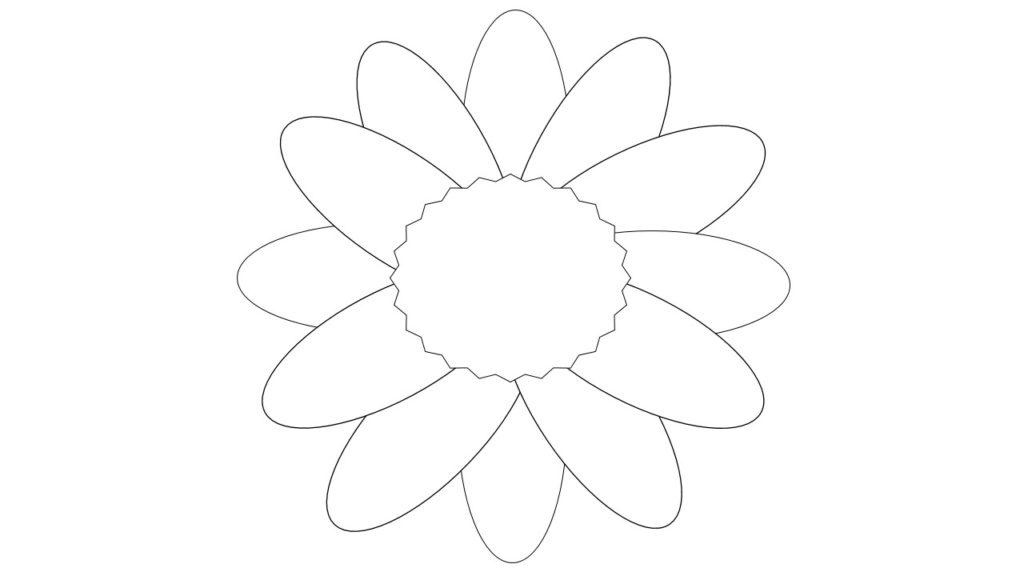Шаблон крупные цветы