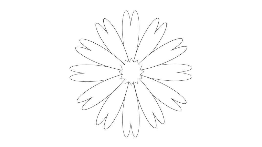 Шаблон крупный цветок
