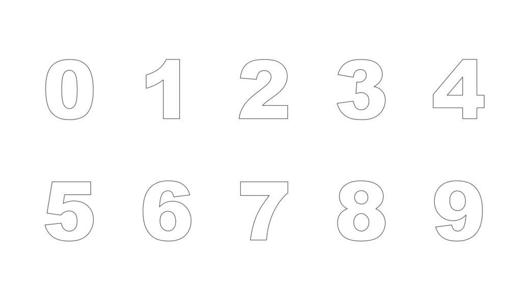 Цифры от 0 до 9 распечатать скачать