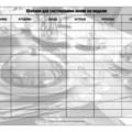 шаблон для составления меню на неделю