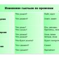 изменение глаголов по времени