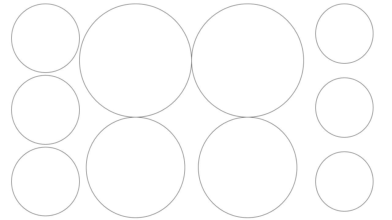 шаблон кругов из бумаги распечатать