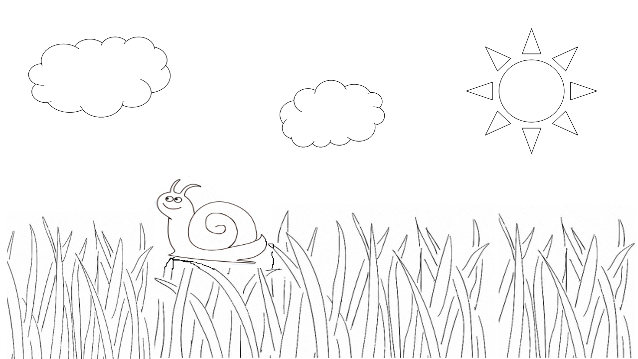 улитка раскраска для детей