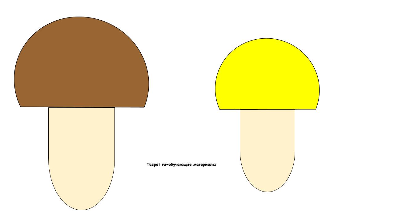 аппликации грибов