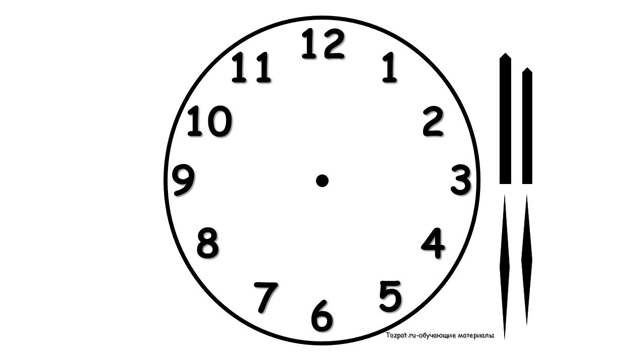 циферблат для часов шаблон со стрелками