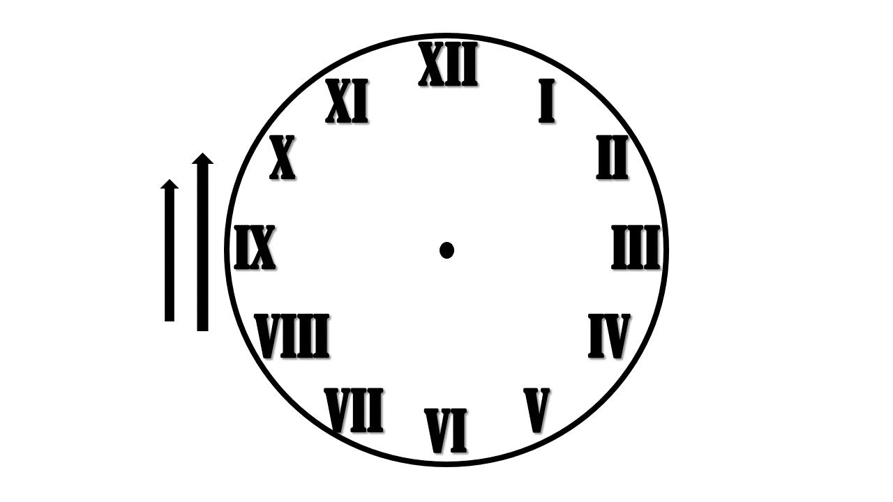 циферблат для часов шаблон