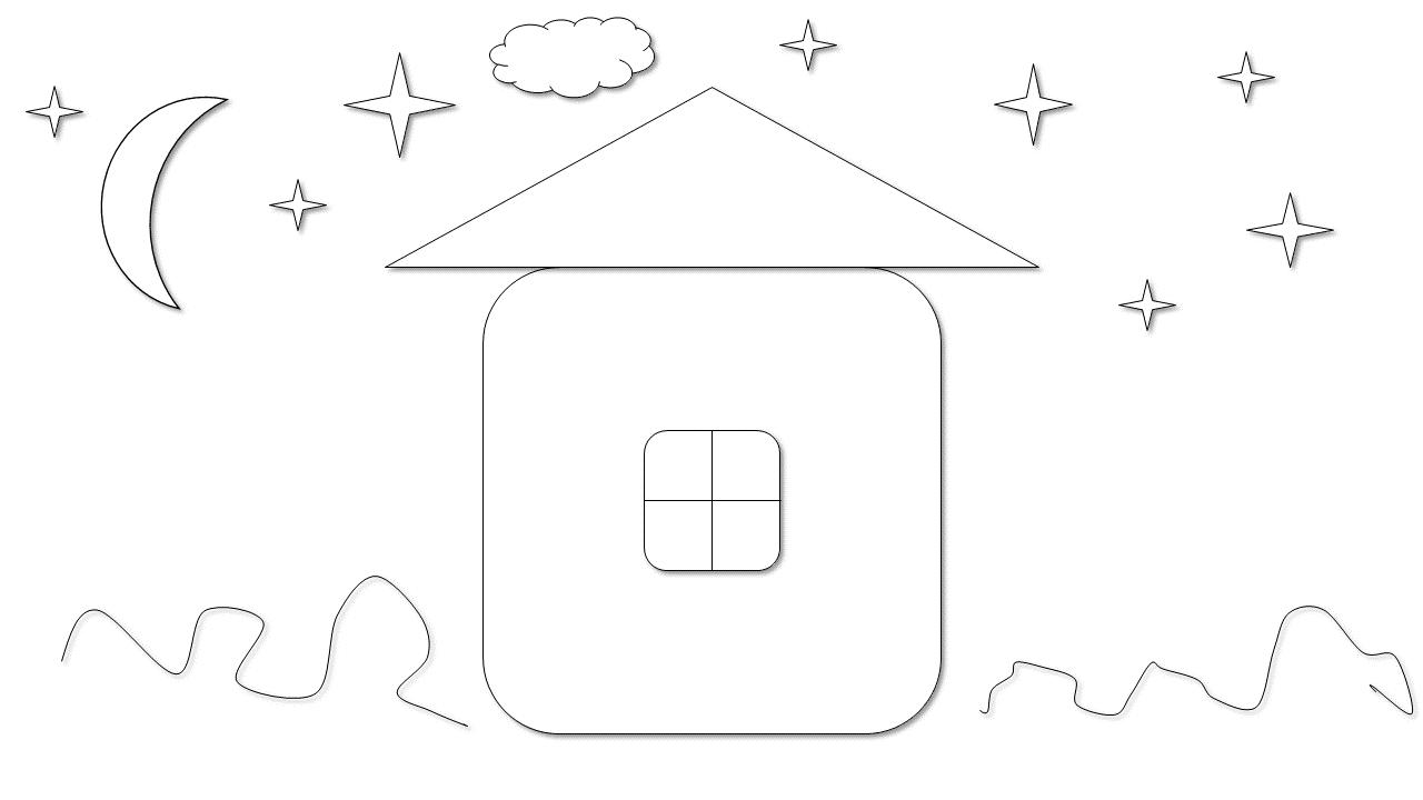 раскраска домик для детей