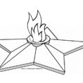 шаблон вечного огня для вырезания
