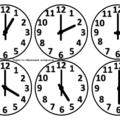 часы для обучения детей времени распечатать
