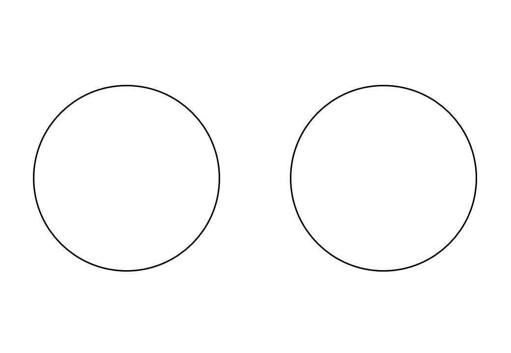 шаблон круга диаметр 10 см