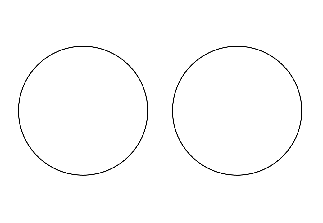 шаблон круга диаметр 11 см