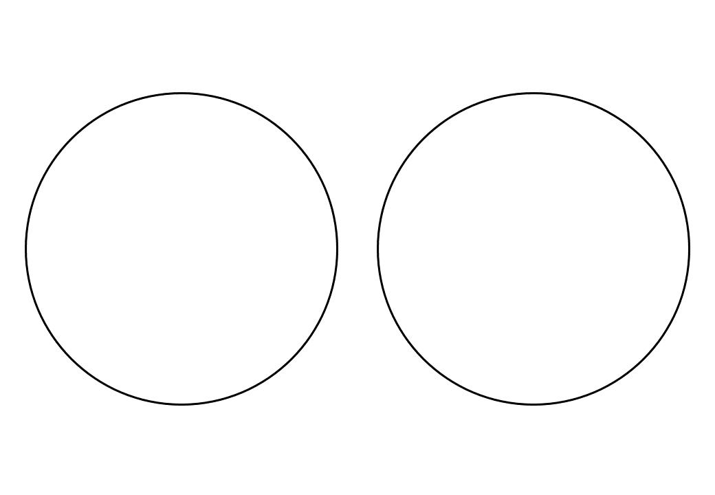 шаблон круга диаметр 12 см