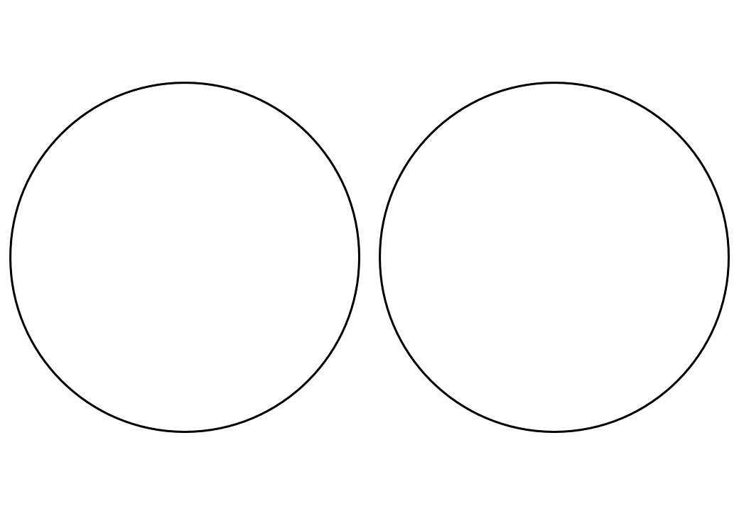 шаблон круга диаметр 13 см