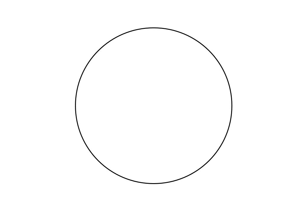 шаблон круга диаметр 14 см