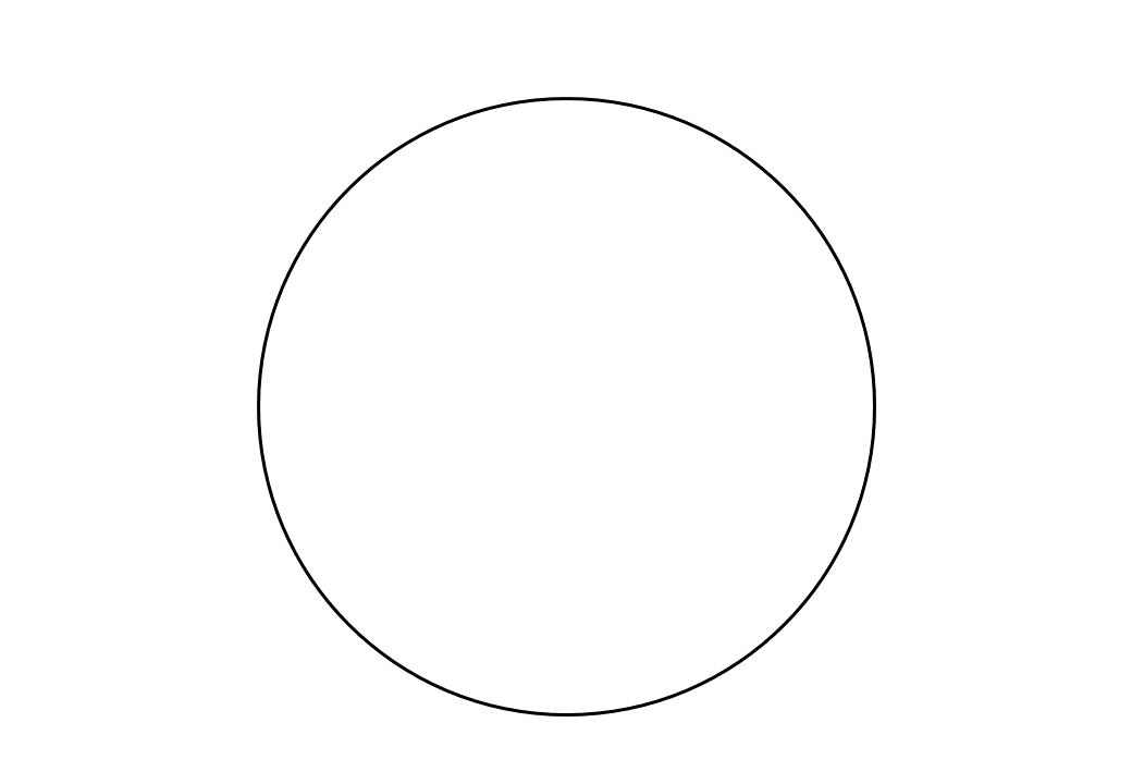 шаблон круга диаметр 15 см