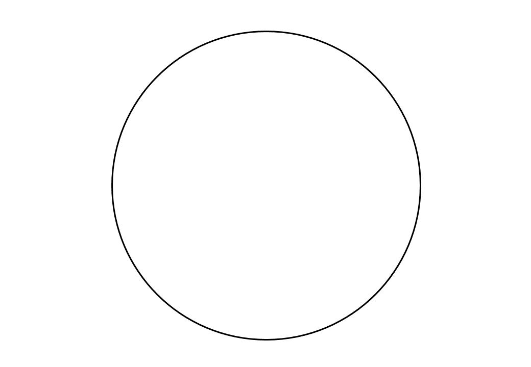 шаблон круга диаметр 16 см