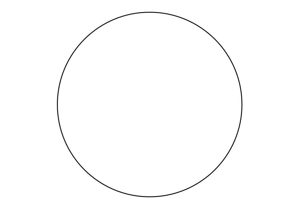 шаблон круга диаметр 17 см