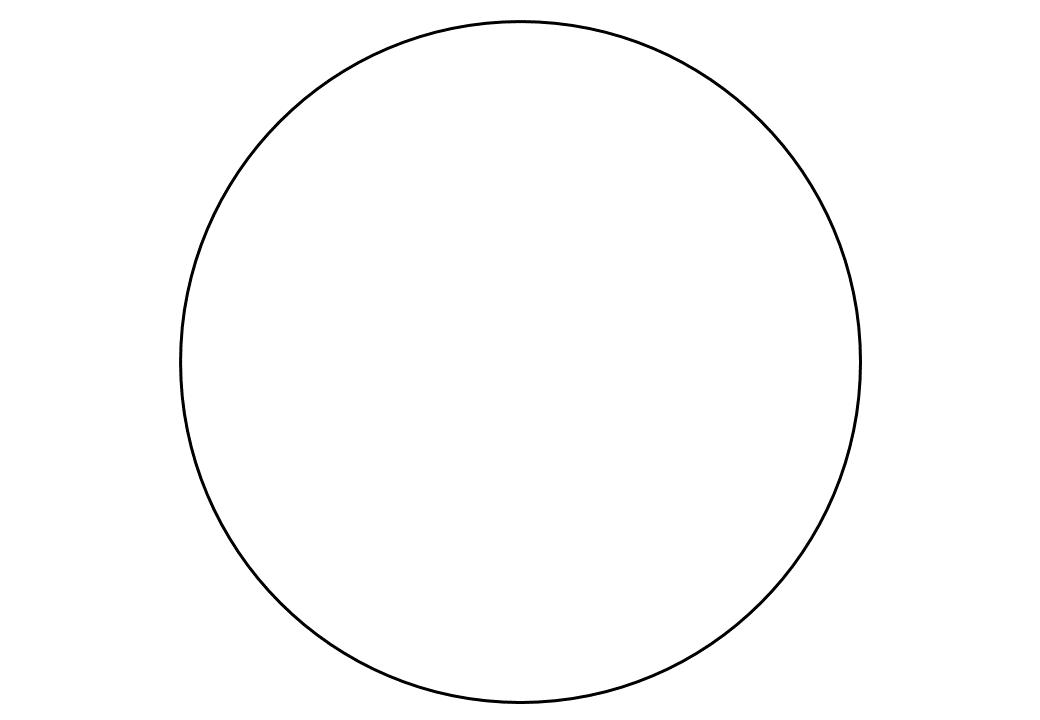 шаблон круга диаметр 18 см