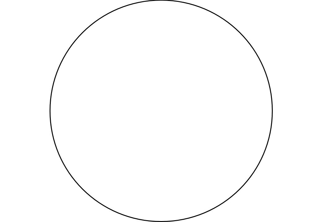 шаблон круга диаметр 19 см