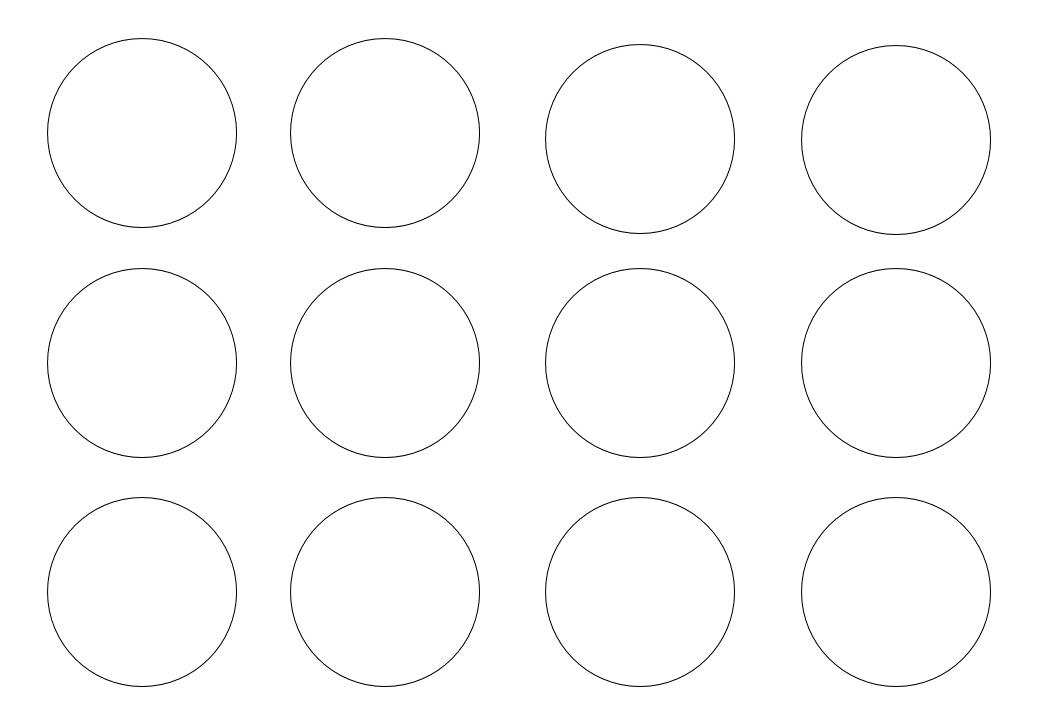 шаблон круга диаметр 5 см