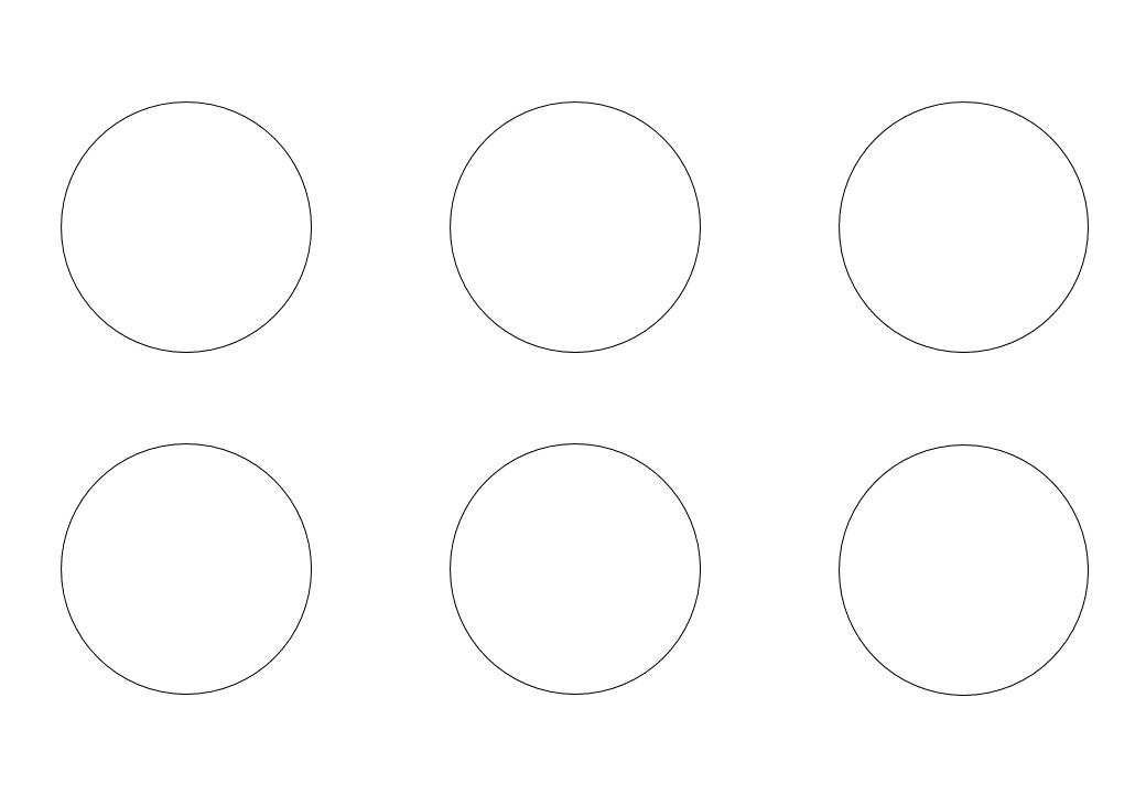 шаблон круга диаметр 6 см
