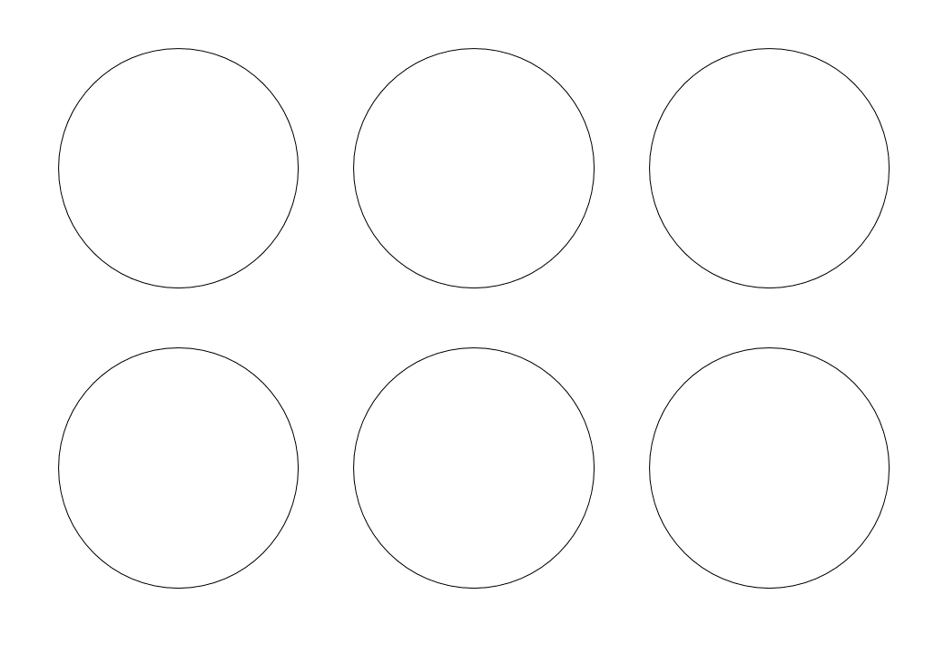 шаблон круга диаметр 7 см