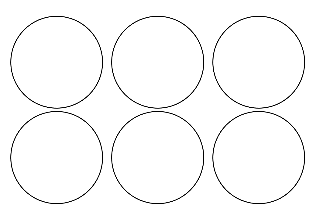 шаблон круга диаметр 8 см