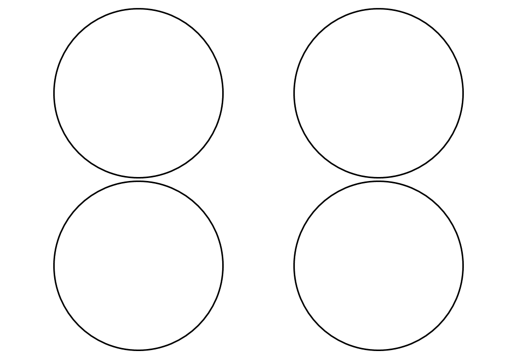 шаблон круга диаметр 9 см