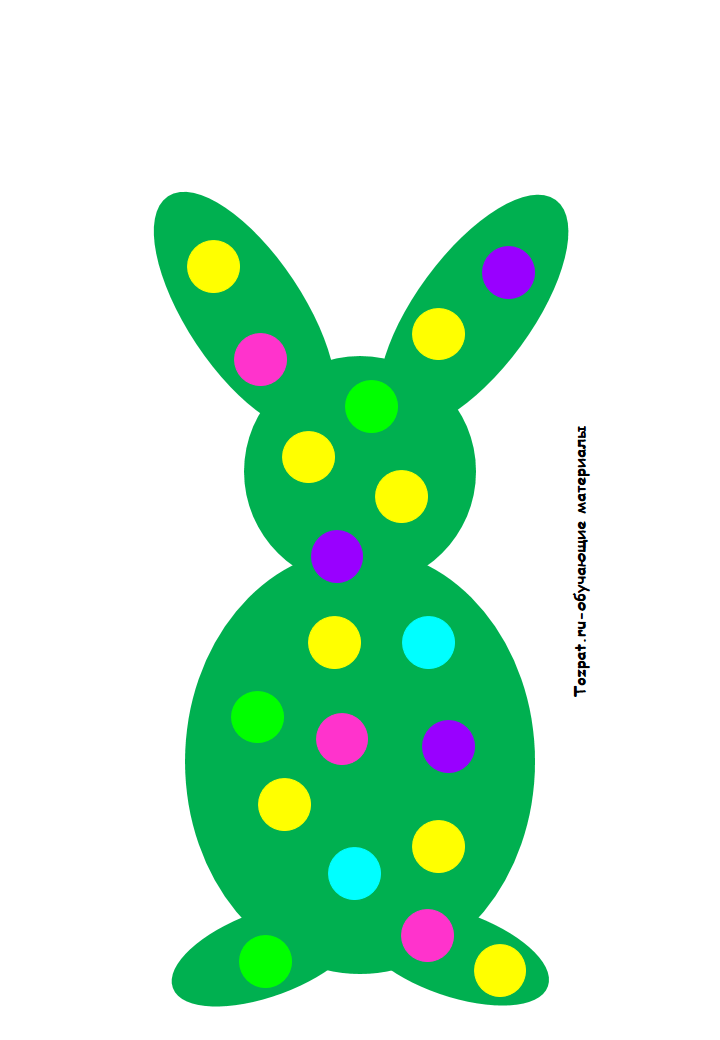 шаблон зайца 3