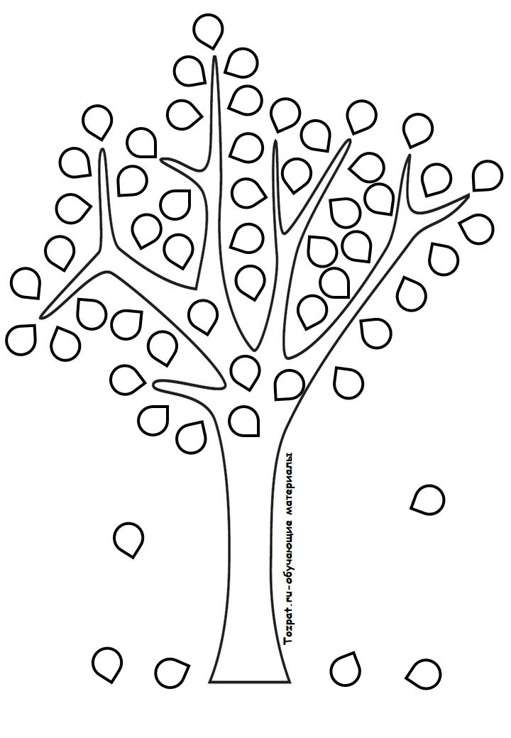 трафарет и шаблон дерева 1