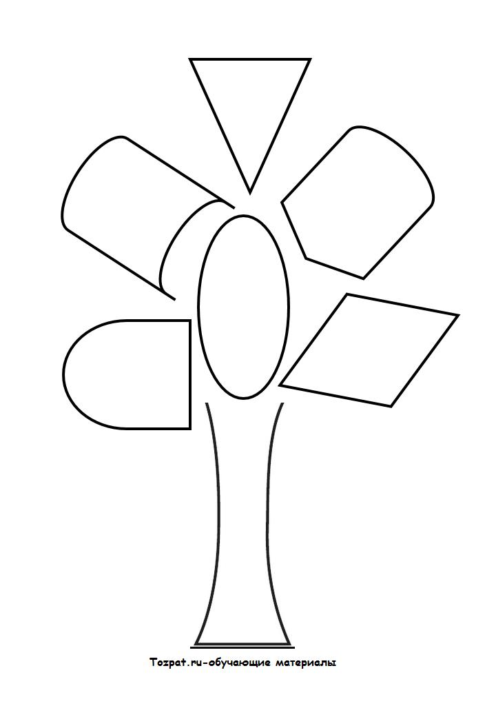 трафарет и шаблон дерева 2