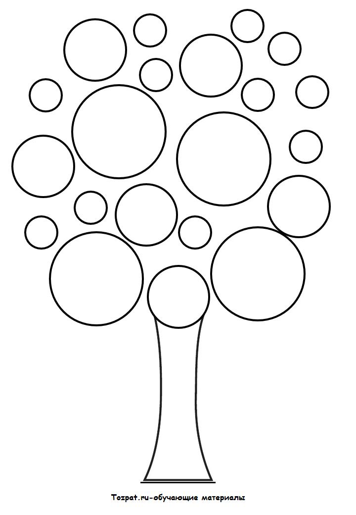 трафарет и шаблон дерева 4
