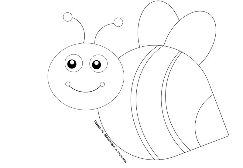 пчела раскраска для детей