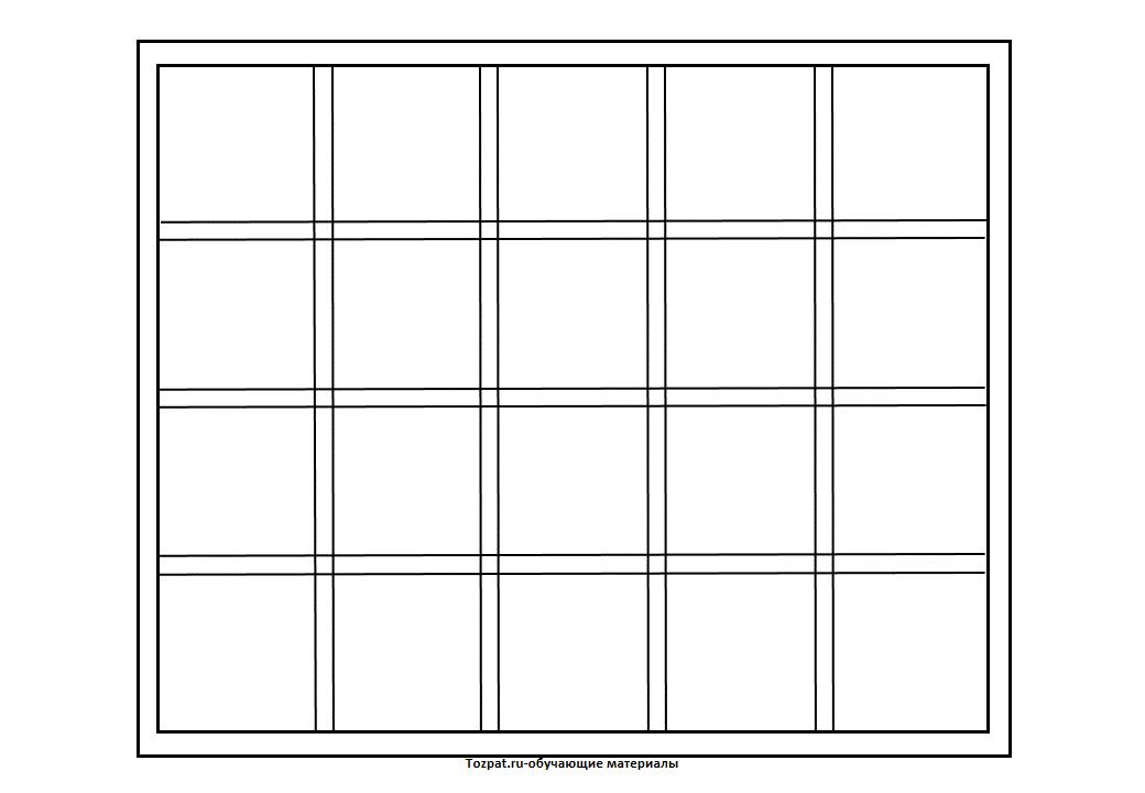шаблон окна для вырезания из бумаги 1