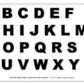 английский алфавит для вырезания трафарет 1