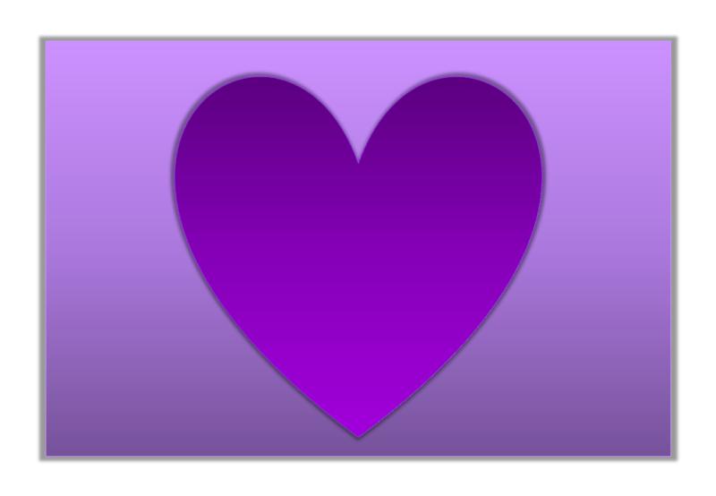 картинка фиолетовое сердце 4
