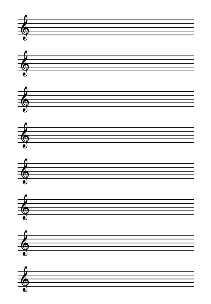 нотный лист а4 распечатать 1