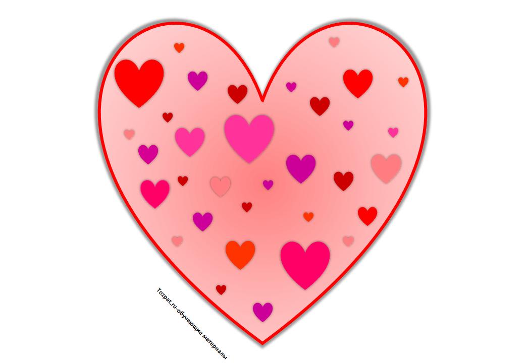 трафарет сердечка для вырезания 1